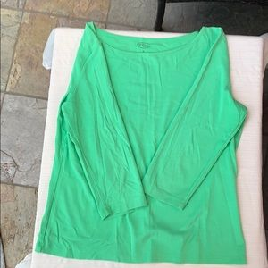 Talbots Green Boatneck Top EUC